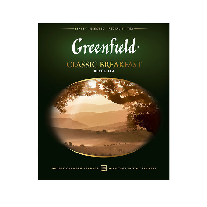 Чай черный Greenfield Classic Breakfast в пакетиках 2 г. 100 шт.